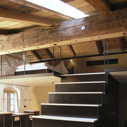 Trappe og etage