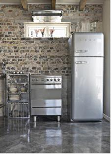 SMEG komfur og køleskab
